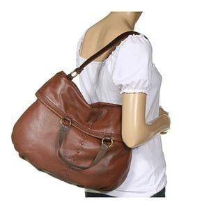 Lucky Brand The Bandit Leather Foldover Hobo Bag